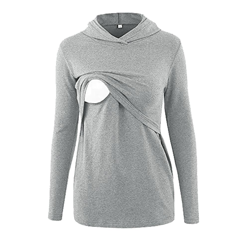 2e8684add12ef ARLONEET Women's Nursing Hoodie Pregnancy Maternity Clothing Breastfeeding  Tee Nursing Tops Striped long Sleeve T-shirt L0927