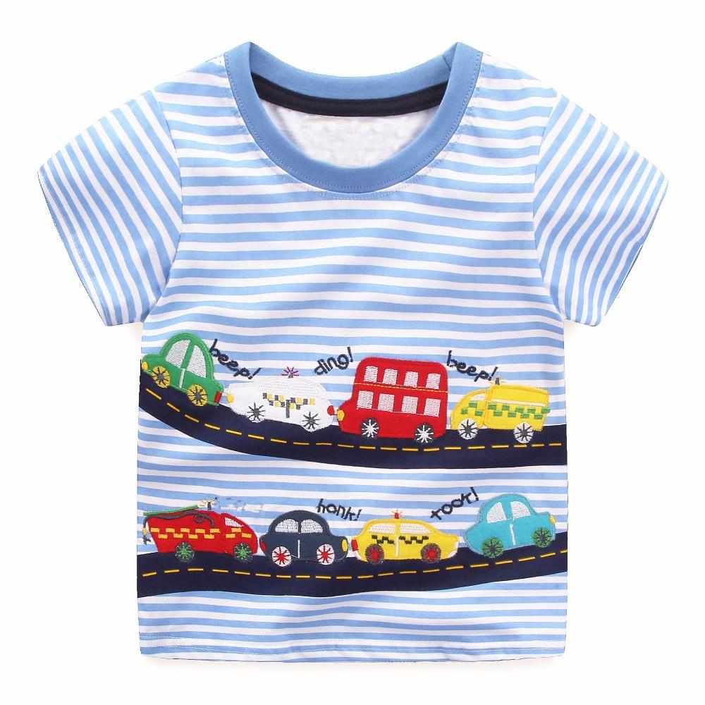 f1b3e48634ec0 Boys Tops Summer 2018 Brand Children T shirts Boys Clothes Kids Tee Shirt  Fille 100% Cotton Character Print Baby Boy Clothing
