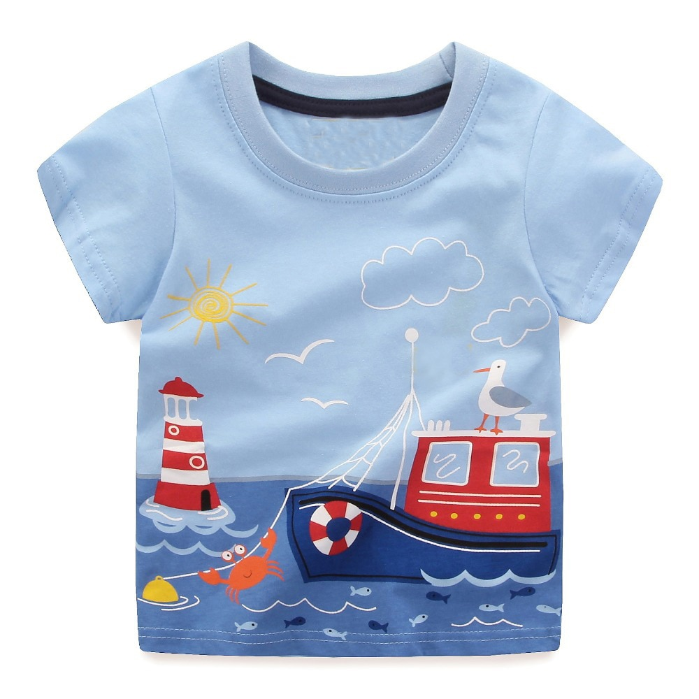 a925b7af097 Boys Tops Summer 2018 Brand Children T shirts Boys Clothes Kids Tee Shirt  Fille 100% Cotton Character Print Baby Boy Clothing